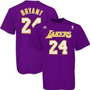 Adidas Size XL NBA Lakers Kobe Bryant #24 T-shirt